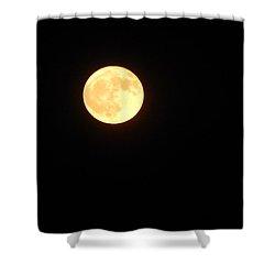 Tie Dyed Orange Moon Shower Curtain