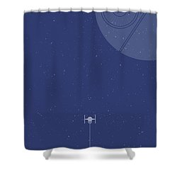 Tie Fighter Defends The Death Star Shower Curtain