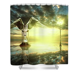 Shower Curtain featuring the digital art Time To Reflect by Nathan Wright