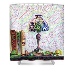 Tiffany Lamp Shower Curtain by Bill Cannon