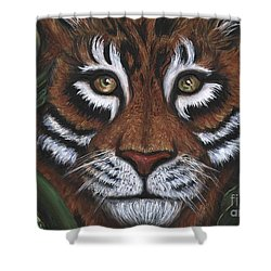 Shower Curtain featuring the painting The Hunt by Alga Washington