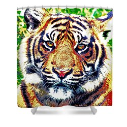 Tiger Art Shower Curtain
