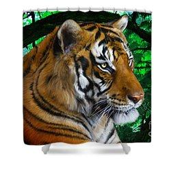 Tiger Contemplation Shower Curtain