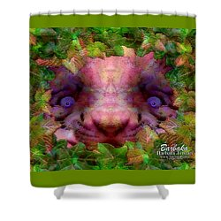 Shower Curtain featuring the photograph Tiger Cub by Barbara Tristan