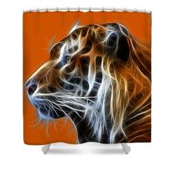 Tiger Fractal Shower Curtain
