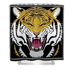 Tiger Head Shower Curtain