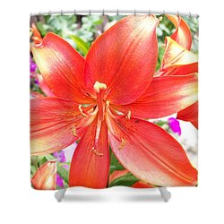 Shower Curtain featuring the photograph Tiger Lily by Sharon Duguay