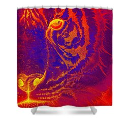 Tiger On Fire Shower Curtain