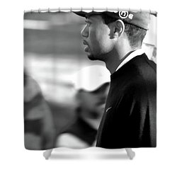 Tiger Woods Bw 2005 Shower Curtain