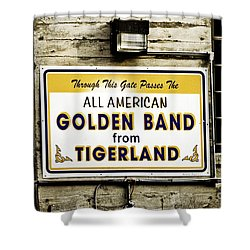 Tigerland Band Shower Curtain by Scott Pellegrin