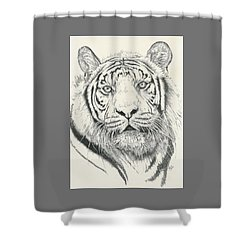 Tigerlily Shower Curtain by Barbara Keith