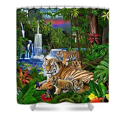 Tigers Of The Forest Shower Curtain