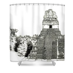 Tikal Temple I Shower Curtain