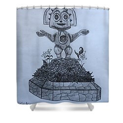 Tiki God Shower Curtain