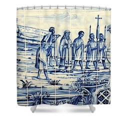 Tile Art Angola Shower Curtain