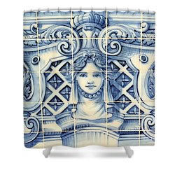 Tile Art In Fort Of Luanda, Angola Shower Curtain