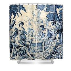 Tile Art Shower Curtain