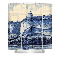 Tile Art Of African History Shower Curtain