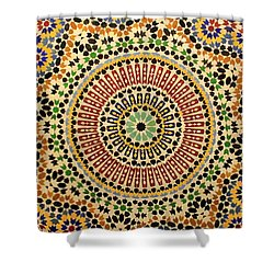 Shower Curtain featuring the photograph Tiles Of Fez by Ramona Johnston