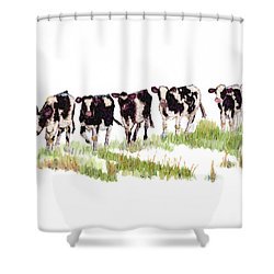 Till The Cows... Shower Curtain