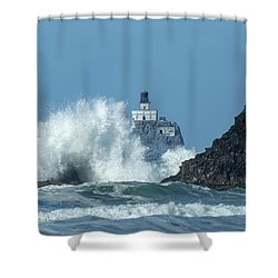 Tillamook Rock Light House, Oregon - Terrible Tilly Shower Curtain
