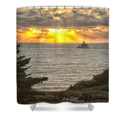 Tillamook Rock Lighthouse 0402 Shower Curtain
