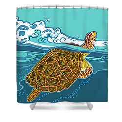 Tilly The Turtle Shower Curtain