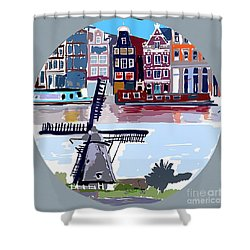 Tilting Windmills Shower Curtain