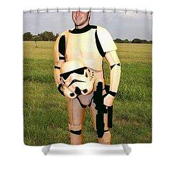 Tim Tebow Stormtrooper Shower Curtain by Paul Van Scott