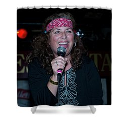 Tima Sings Hungry Heart Shower Curtain