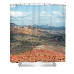 Timanfaya Panorama Shower Curtain by Delphimages Photo Creations