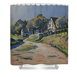 Timbered Houses In Terziet Shower Curtain