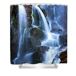 Timberline Falls Shower Curtain