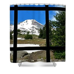 Timberline Lodge View Shower Curtain