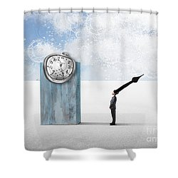 Time  Shower Curtain by Aimelle ML