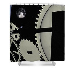 Time And Space Shower Curtain by Richard Rizzo