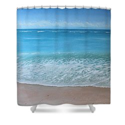 Time And Tide Shower Curtain by Paul Newcastle