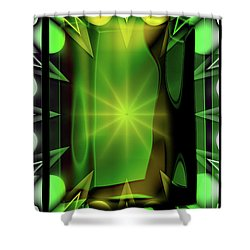 Time Barrier Shower Curtain