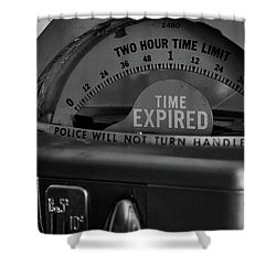 Time Expired Shower Curtain