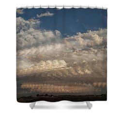 Shower Curtain featuring the photograph Time Flies by Karen Slagle
