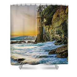 Time Flows I Wait Shower Curtain