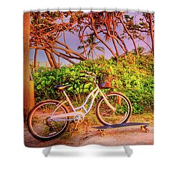 Shower Curtain featuring the photograph Time For Beach Fun by Debra and Dave Vanderlaan