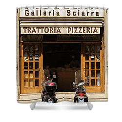 Time For Pizza Shower Curtain by Ian Middleton