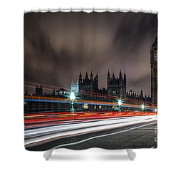 Time Shower Curtain by Giuseppe Torre