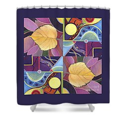 Time Goes By - The Joy Of Design Series Arrangement Shower Curtain