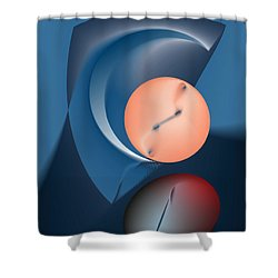 Time Is A Peculiar Game Shower Curtain