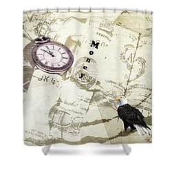Time Is Money Shower Curtain by Diane Schuster