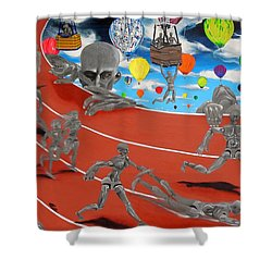Time Is Moving Shower Curtain