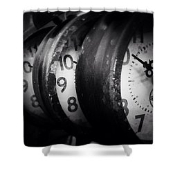 Time Multiplies Shower Curtain