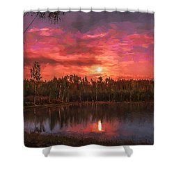 Shower Curtain featuring the painting Time Of Grace by Rose-Maries Pictures